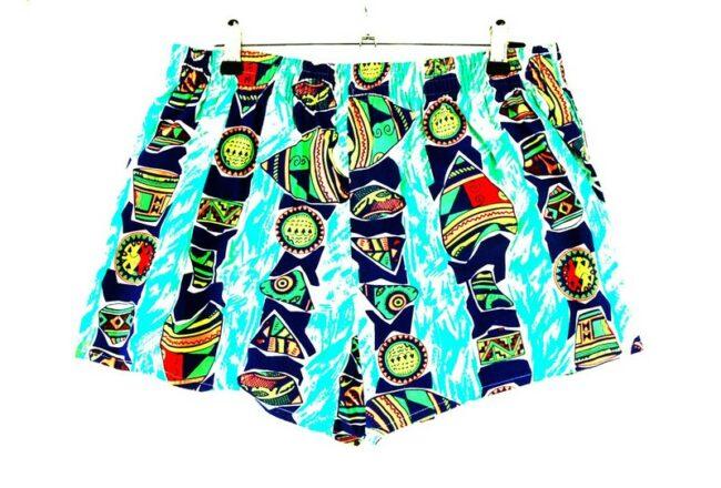 Back of Silver Coast 90s Beach Shorts