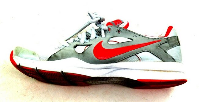Close up of Womens Nike White Running Trainers