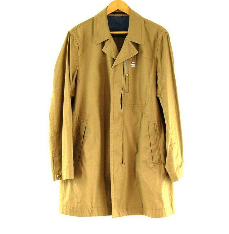 Mens Brown G Star Raw Coat