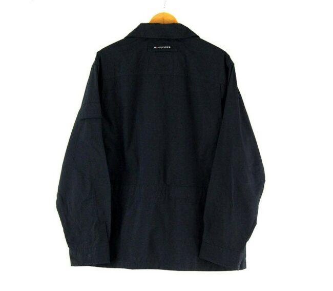 Back of Mens Tommy Hilfiger Navy Blue Jacket