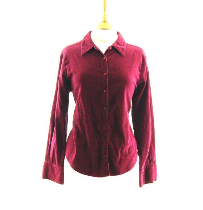 90s Maroon Corduroy Shirt.