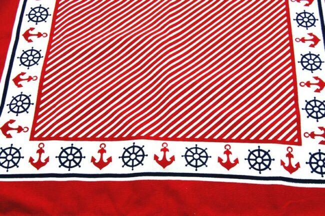 |Close up of Nautical Print Bandana