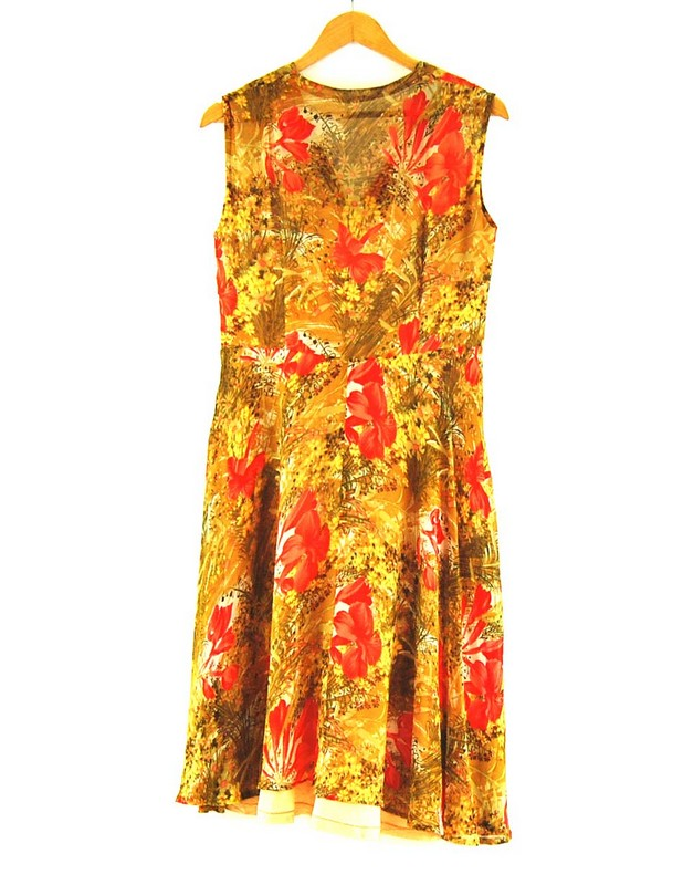 Back of 70s Chiffon Dress