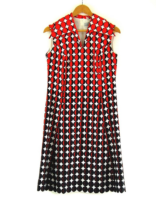 70s Printed Shift Dress