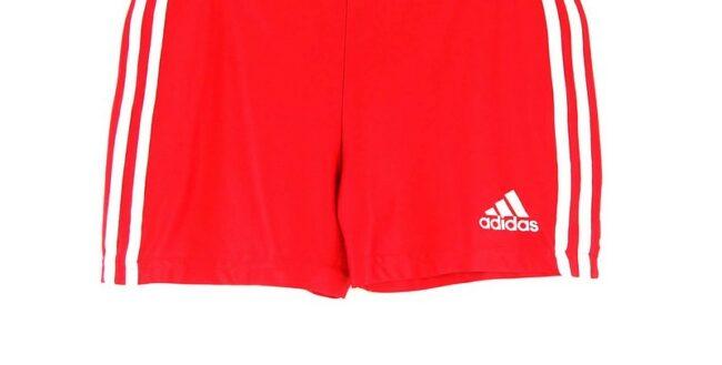 Close up of Red Adidas Training Shorts