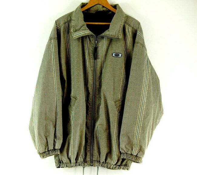 Close of Green Striped O Neill Jacket Mens
