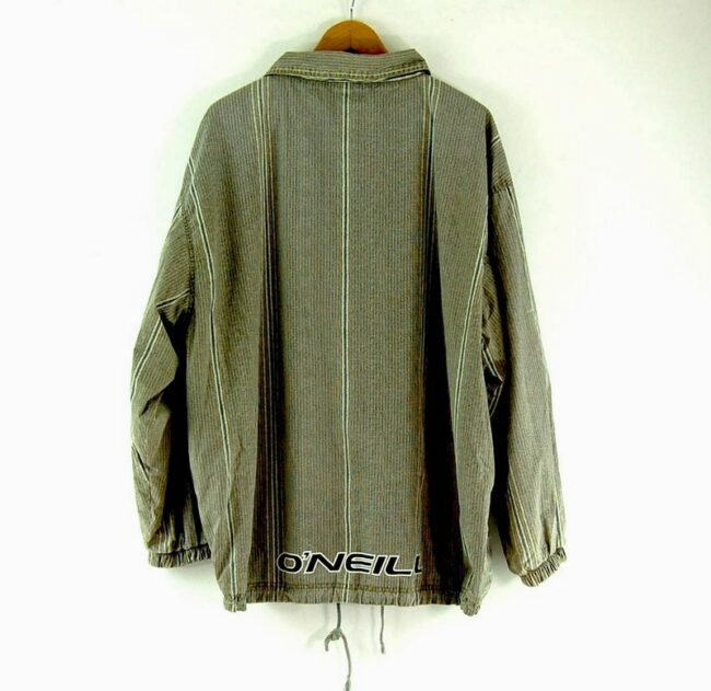 Back of Green Striped O Neill Jacket Mens