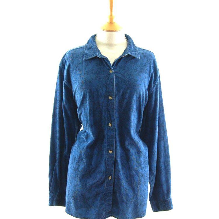 Blue Floral Cord Shirt