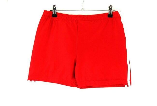 Back of Red Adidas Training Shorts