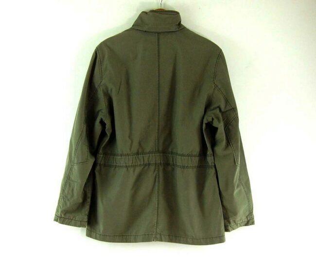 Back of Mens Tommy Hilfiger Green Jacket
