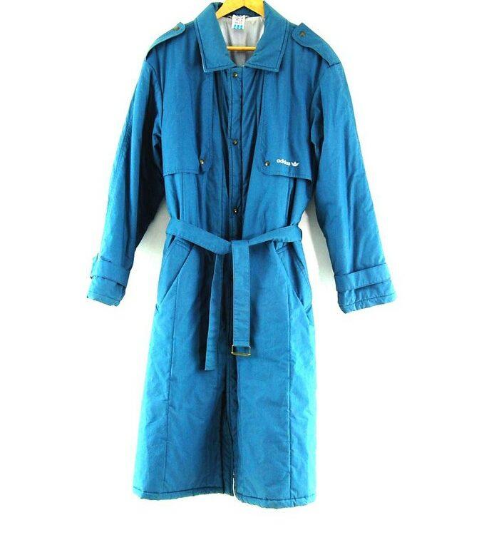 Blue Adidas Long Coat Mens