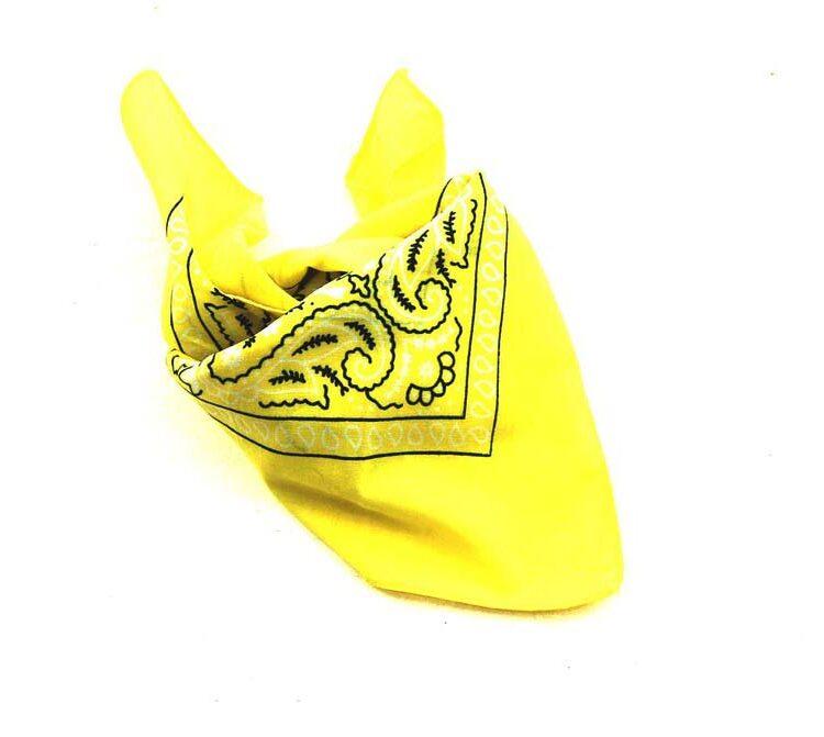 Yellow Paisley Print Bandana