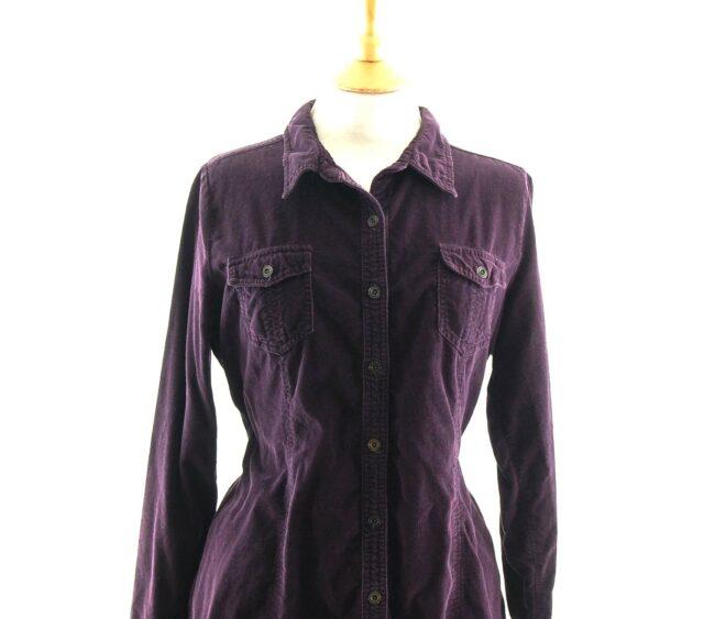 90s Purple Cord Shirt