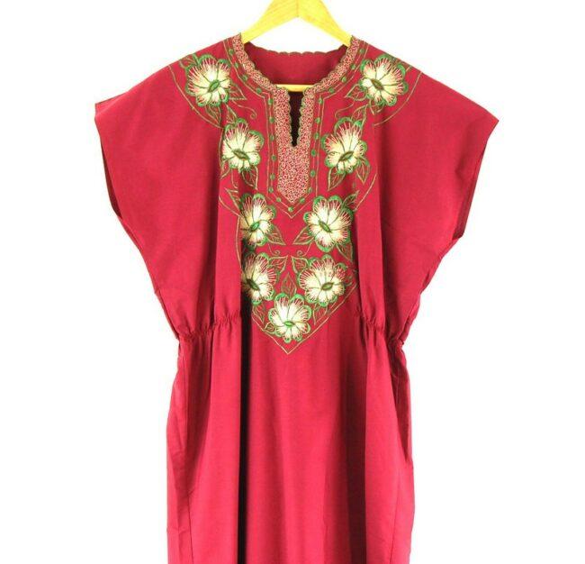 Close Up of 70s Caftan Dress