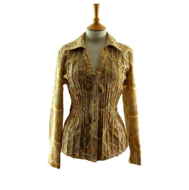 90s Paisley Corduroy Shirt