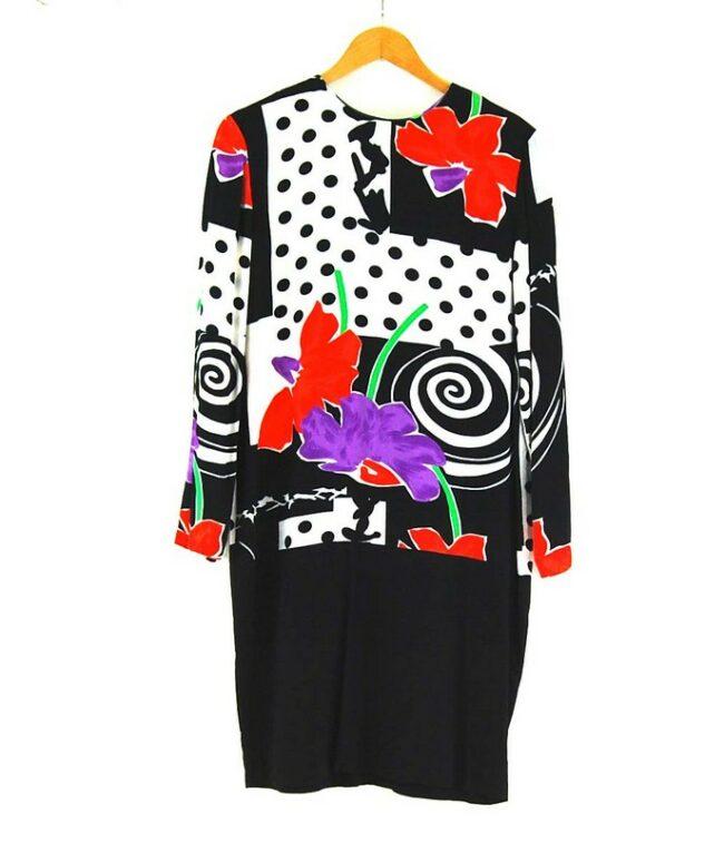 80s Printed Shift Dress