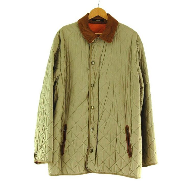 Mens Beige Barbour Milano Quilted Jacket.