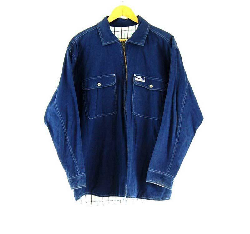Mens Blue Quicksilver Reversible Jacket