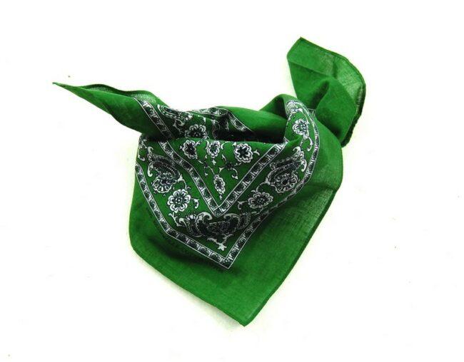 Green Floral Paisley Print Bandana