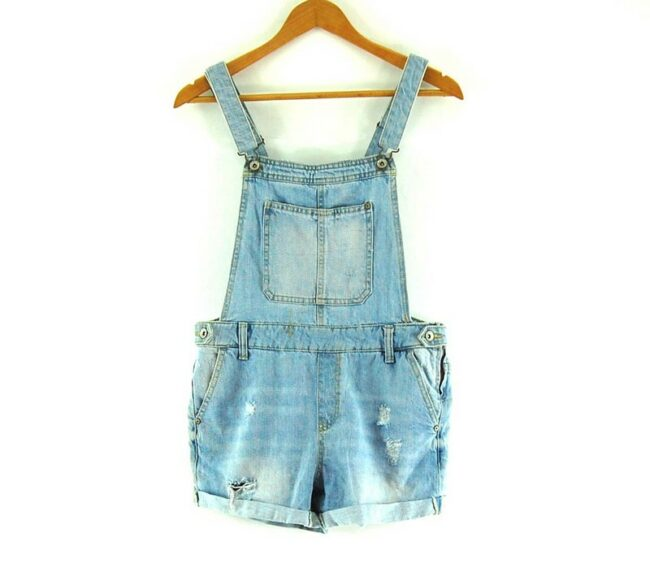 Denim Dungaree Shorts For Women