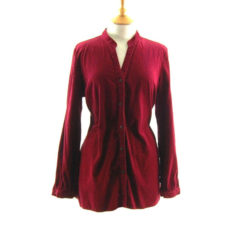 90s Red Corduroy Shirt