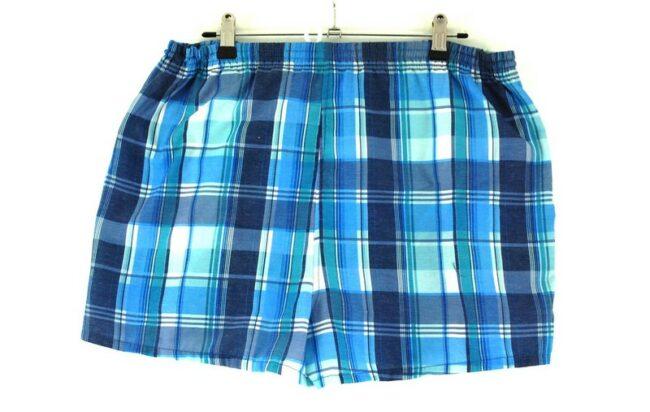 Back of 90s Checkered Shorts Mens