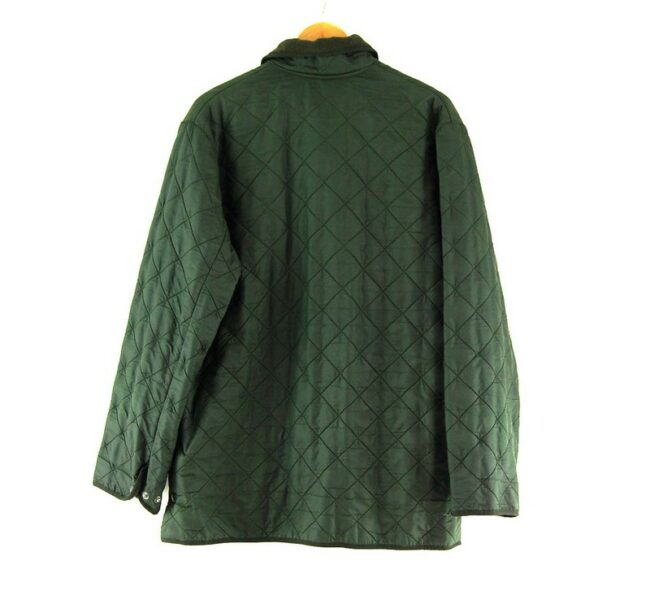 Back of Barbour Quilted Jacket Dark Green