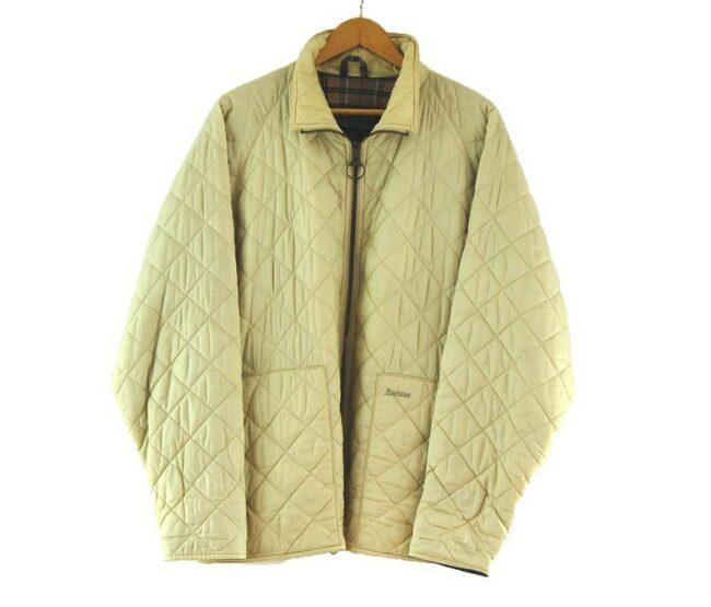 Beige Quilted Barbour Flyweight Jacket