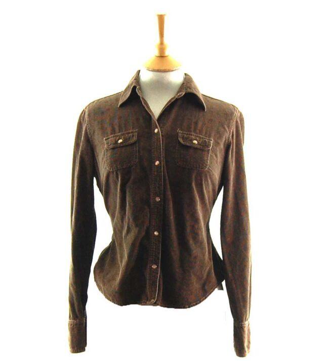 90s Brown Cord Shirt