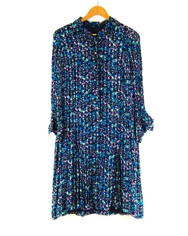 70s Pleated Shirt Dress