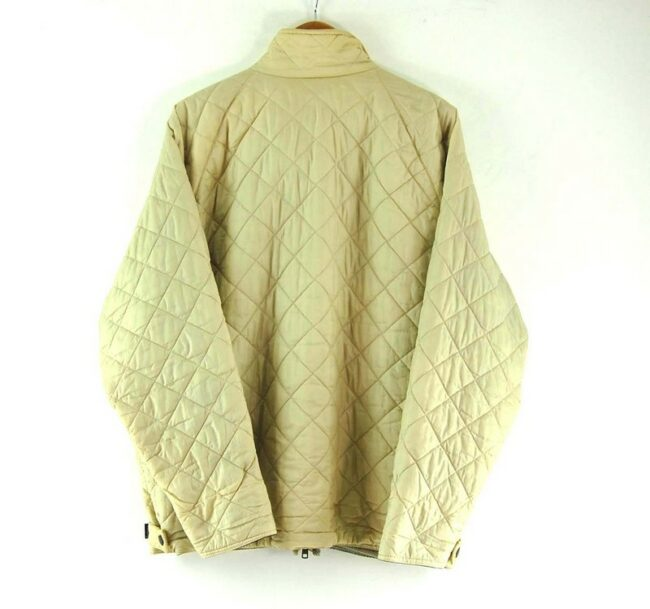 Back of Beige Quilted Barbour Flyweight Jacket