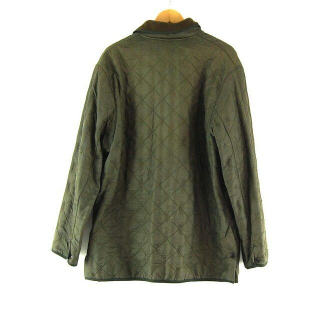 Back of Close up of Mens Vintage Barbour Quilted Jacket.