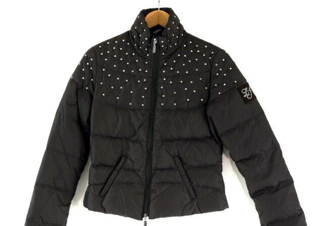 Close up of Black Liu Jo Puffer Jacket