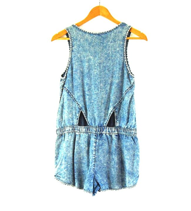 Back of 90s Denim Playsuit