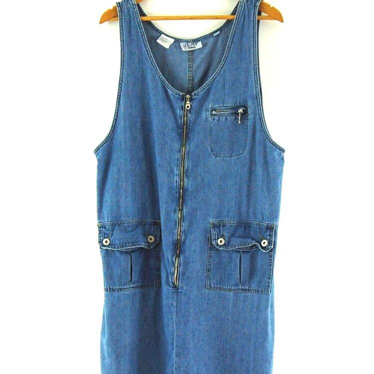 90s Denim Pinafore Dress