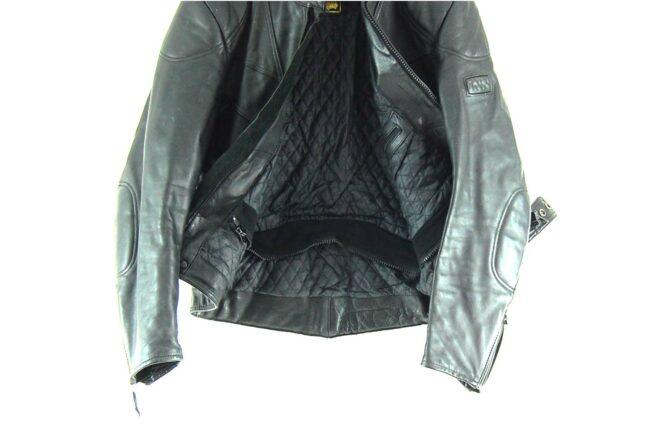 Black Leather Biker jacket Lining