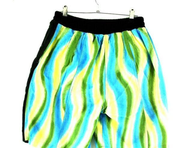 Back of 90s Style Beach Shorts