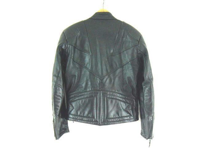 Black Leather Biker jacket Back