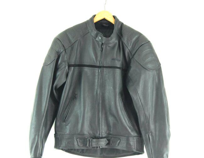 Cafe Racer Leather Biker jacket Label Close up