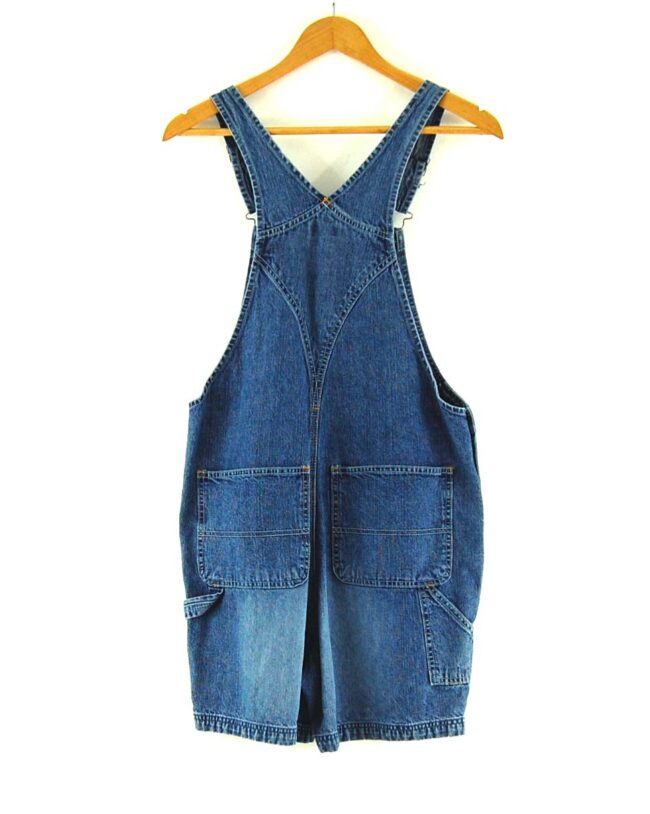 Back of 90s Dungaree Shorts