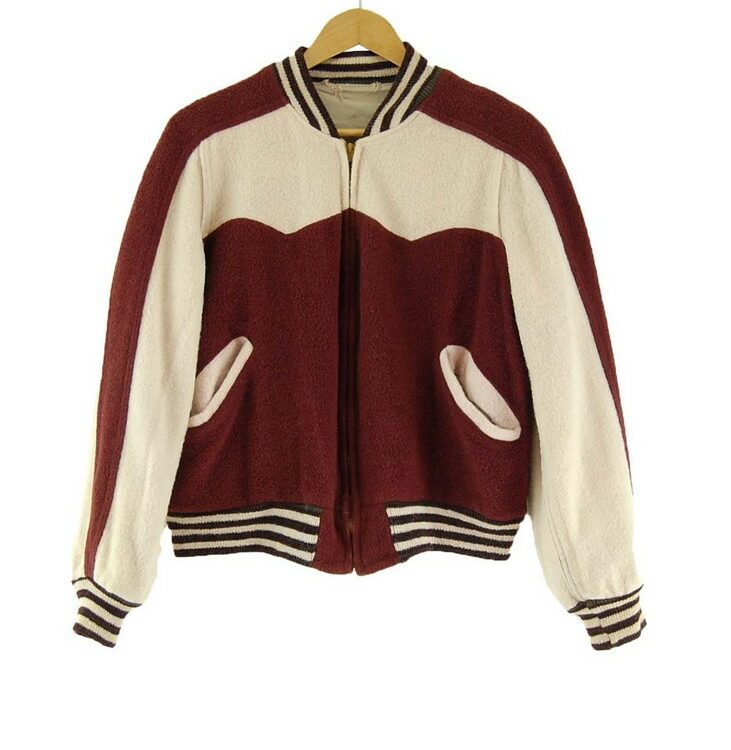 50s Reversible Vintage Baseball Jacket