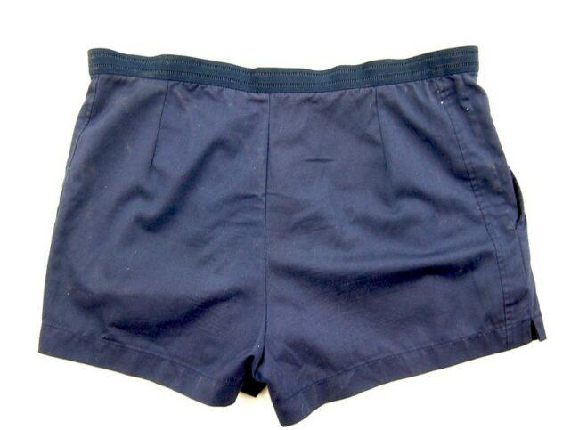 Back of Navy Blue Fila Vintage Shorts