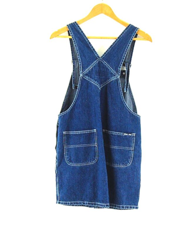 Back of Urban Star Dark blue denim dungarees