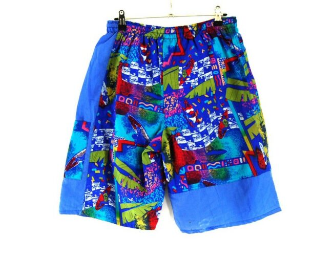 Back of 90s Printed Shorts For Men