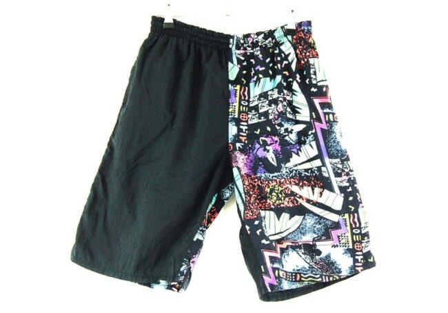 Back of 90s Mens Patterned Shorts