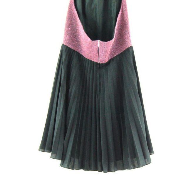 Close up of 70s Halter Dress