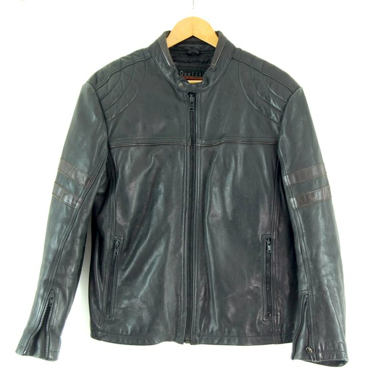 90s Leather Biker Jacket