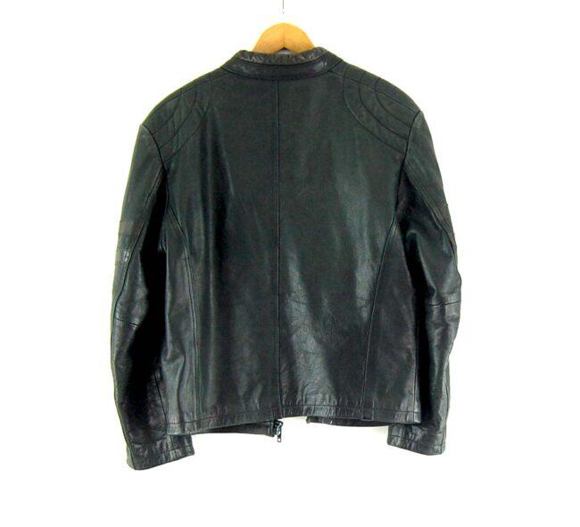 90s Leather Biker Jacket Back