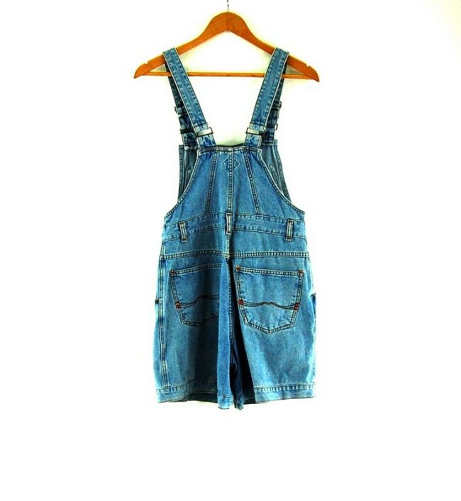 Back of 90s Button Through Dungarees
