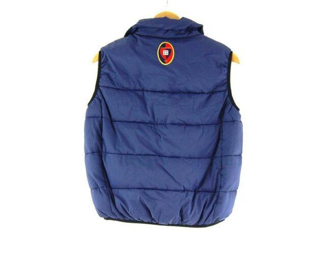 Back of Dark Blue kappa Puffer Vest